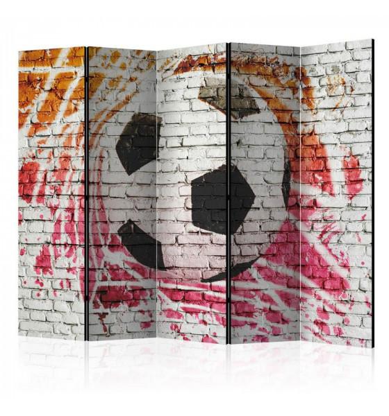 con pallone da calcio